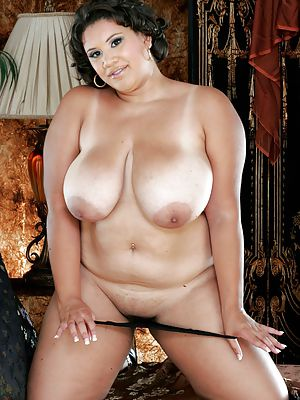Large round breasts