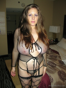 Sexy fat wife in lingerie