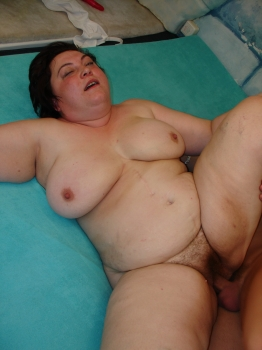 Pretty BBW granny with hairy pussy