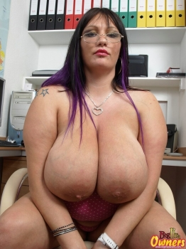 Busty bbw MILF with giant boobs