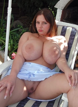 Sexy woman with big tits