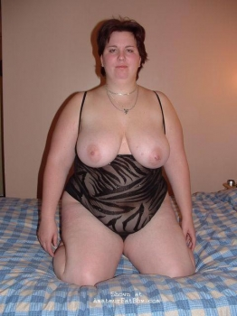 Chubby woman in lingerie