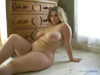 Cute blonde chubby girl naked.