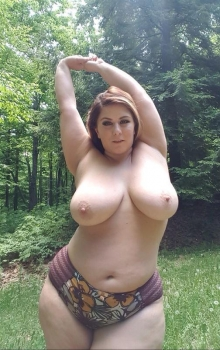 Chubby posing outdoor