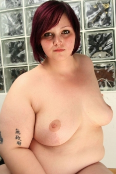 Young fattie naked
