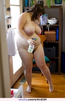Hot cleaner bbw woman