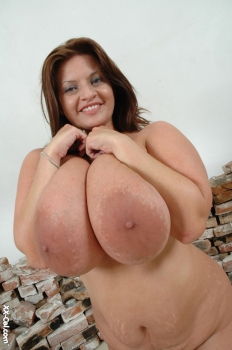 Giant breasts bbw