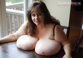 Sexy bbw milf Suzie 44K is horny. Her big tits are out and swollen. When she lets guys see her tits they get hard. You will too!