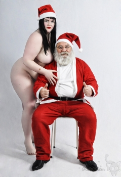 mature and santa claus